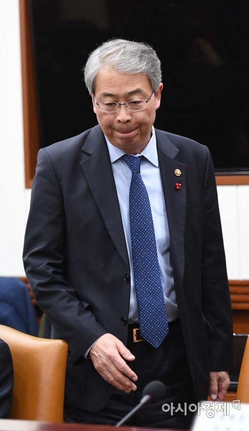 [포토]긴급 경제관계장관회의 참석하는 임종룡 위원장