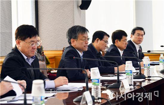 최상목 기획재정부 차관이 10일 서울 중구 은행회관에서 열린 관계기관 합동 비상경제대응반 회의를 주재하고 있다.