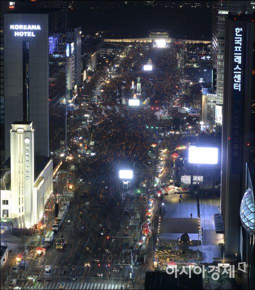 10일 오후 서울 광화문광장에서 열린 7차 촛불집회