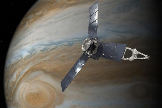 ▲주노 탐사선인 11일(현지 시간) 목성에 4150km까지 접근한다.[사진제공=NASA]