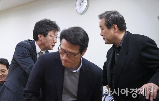 [포토]탄핵가결이후 비상시국회의 참석한 유승민·김무성