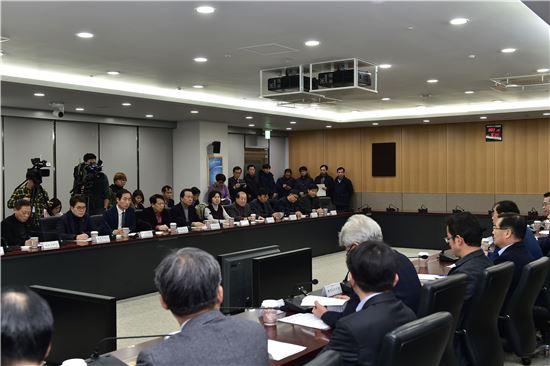 박원순 서울시장과 서울시 구청장들의 민생대책 위원회의