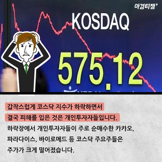 [카드뉴스]삼성전자보다 작아진 코스닥, 대체 무슨일