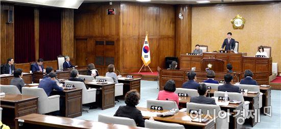 광주시 광산구의회, 제223회 정례회 구정질문