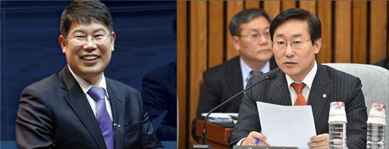 (왼쪽부터) 김경진 국민의당 의원, 박범계 더불어민주당 의원, 사진=아시아경제DB
