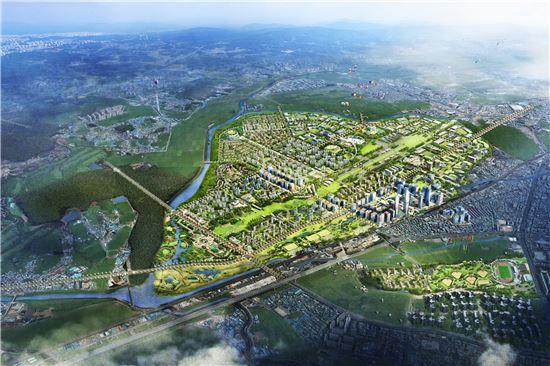 수원 군공항 이전부지에 조성될 도시개발 조감도