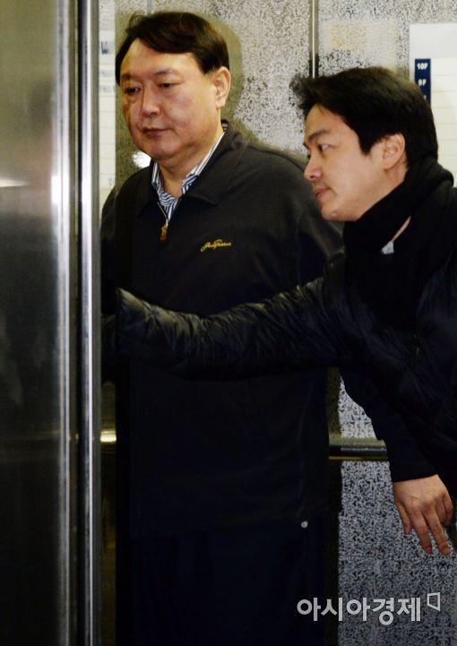 [포토]특검 사무실 복귀하는 윤석열 수사팀장