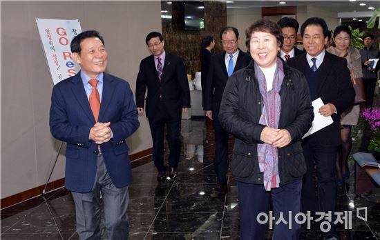 윤장현 광주시장, 한전KDN 임직원과 공감토크