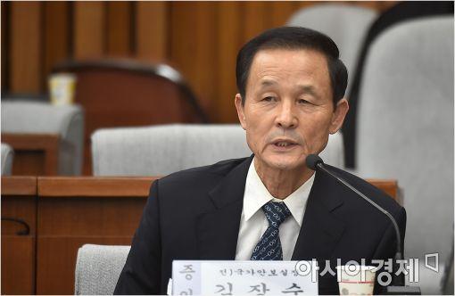 [포토]답변하는 김장수 전 안보실장