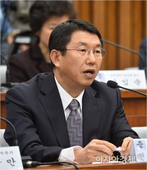 [포토]답변하는 김석균 전 해양경찰청장