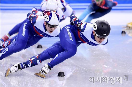 [포토]안현수, '러시아 대표팀과 함께'