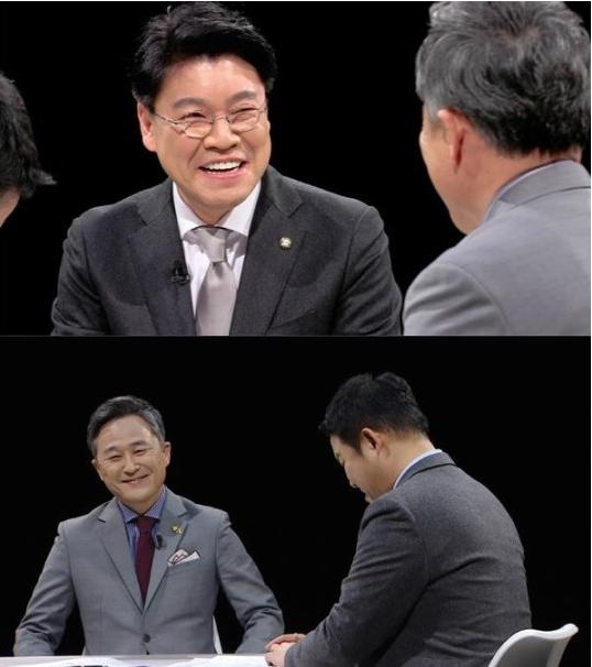 JTBC '썰전' 녹화에 참여한 장제원, 표창원 의원/사진=JTBC