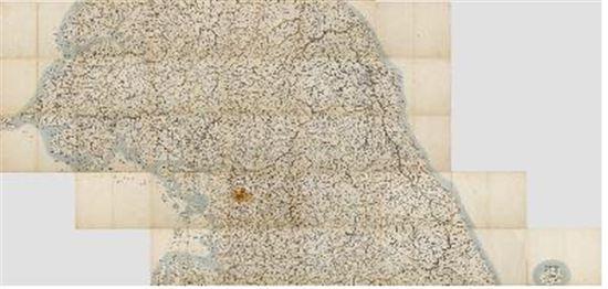 김정호, 대동여지도 제10권~제14권(평양~단양), 조선 1861년[사진=국립중앙박물관 제공]