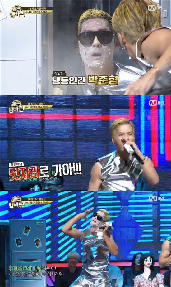 '골든탬버린' 첫 방송에 출연한 박준형과 잭슨/사진=Mnet '골든탬버린' 캡처