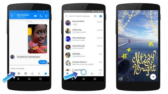 페이스북 메신저 카메라 기능 추가