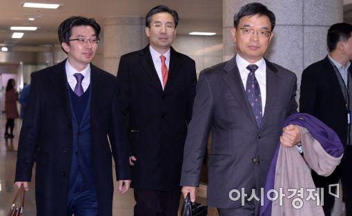 [포토]탄핵 답변서 제출 마친 대통령 법률 대리인단