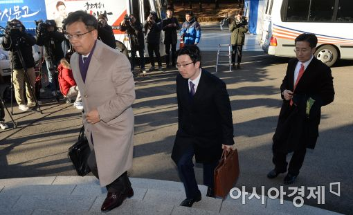 [포토]헌법재판소 도착한 박근혜 대통령 법률 대리인단