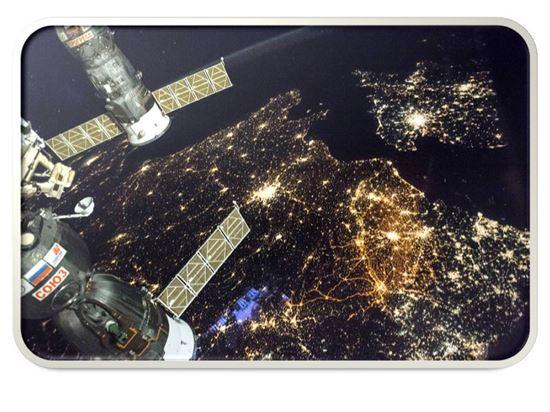 ▲국제우주정거장에서 서유럽의 모습이 포착됐다.[사진제공=NASA]