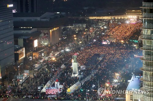 촛불집회. 사진=연합뉴스 제공