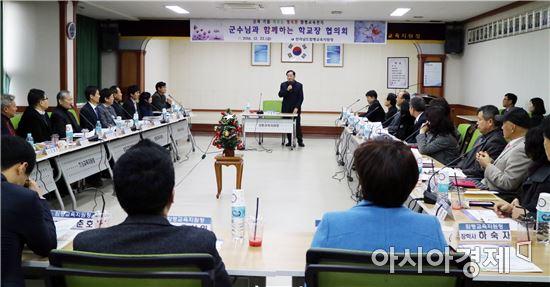 함평교육청, 안병호 함평군수  초청 '2016년 하반기 교장회의' 개최