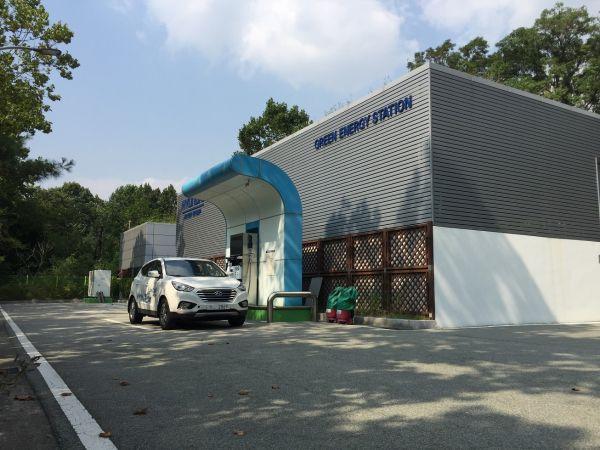 ▲효성이 설치한 양재 수소충전소 전경