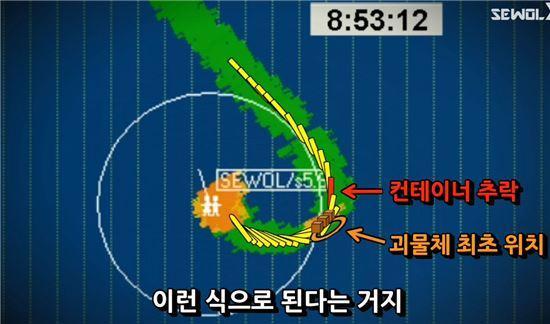 네티즌 수사대 '자로'가 세월호 침몰 원인이 잠수함에 의한 충돌일 가능성을 제기했다/사진= 자로 '유튜브' 캡쳐
