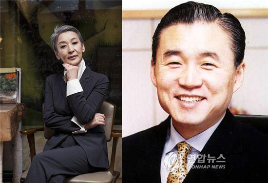 배우 윤석화(좌)와 김석기 전 중앙종금대표(우)/사진=아시아경제DB, 연합뉴스