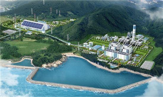 고성화력발전소 조감도