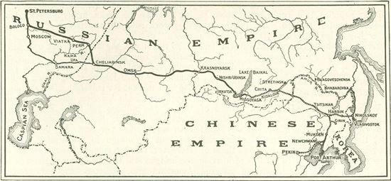 청일전쟁에서 승리한 일본을 경계한 러시아는 청나라로부터 얻은 철도부설권을 바탕으로 하얼빈을 중심으로 다롄까지를 잇는 '동청철도'를 만들었다. 그러나 1931년 만주사변 발발 후 이듬해 만주국이 세워지자 러시아는 일본과의 무력충돌을 피하기 위해 이 철도의 권리를 일본에게 양도하게 되는데, 이때 스기하라 지우네는 당초 러시아가 제시한 거액의 협상금을 1/6 수준으로 낮춰 양도 협상을 체결해 러시아와 일본 양국으로부터 외교적 능력을 인정받는다. 사진 = 동청철도 지도, McClure's Magazine 제공