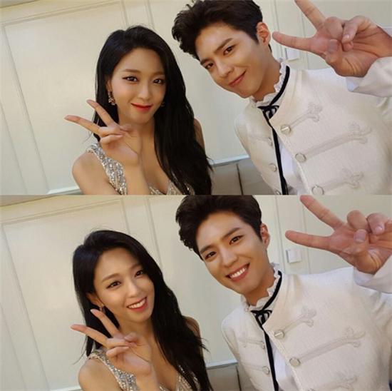 설현, 박보검 / 사진=설현 인스타그램 캡처