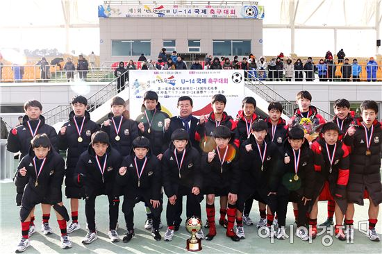 한·중·일 축구 꿈나무들, 진도아리랑배 U-14 국제 축구대회 성료