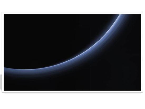 ▲명왕성의 연무대기층.[사진제공=NASA]