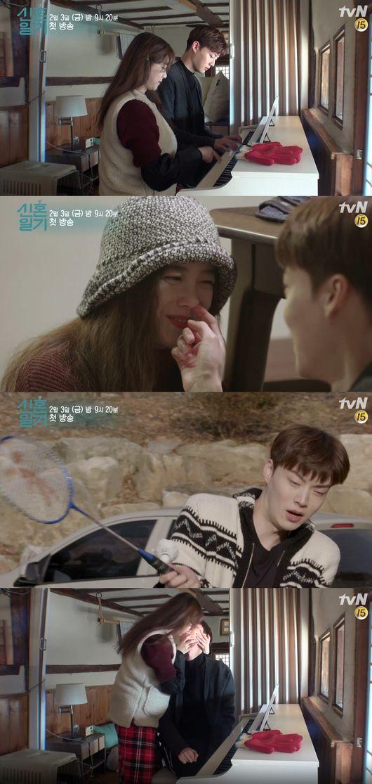 구혜선 안재현. 사진=tvN '신혼일기' 방송 캡쳐