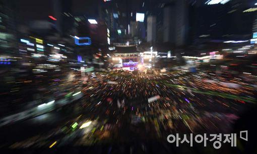 [포토]보신각에 모인 촛불시민들