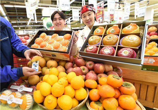 농협유통, 당도 측정 후 설 과일 선물세트 할인전 실시
