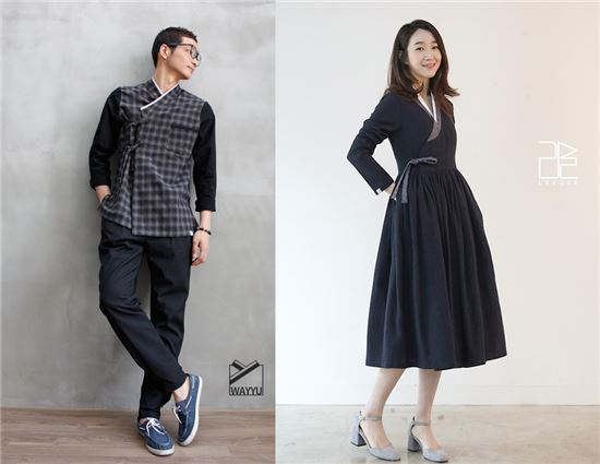 생활한복 전문몰 웨이유(왼쪽) 및 리슬(오른쪽) 사진 제공.