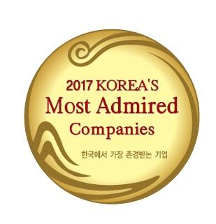 아모레퍼시픽, 한국에서 가장 존경받는 기업으로 선정