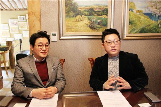 (사진 왼쪽부터)박도근, 김관훈 두끼떡볶이 공동대표
