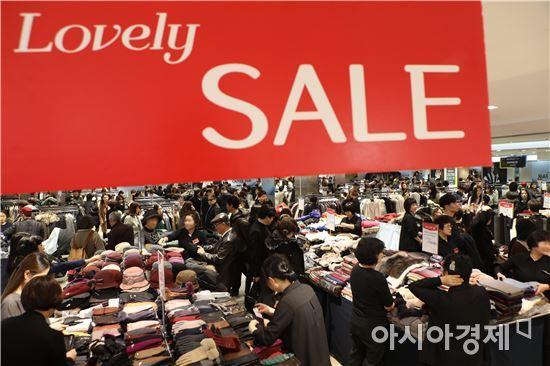 백화점 세일 기간 모습(아시아경제 DB)
