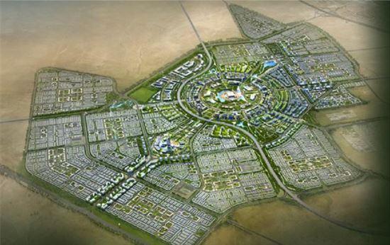 쿠웨이트 압둘라 신도시 조감도.