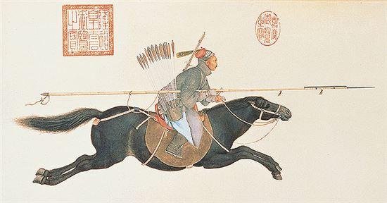 청나라 팔기병 모습(사진=대만국립고궁박물관)