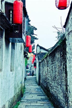 소흥의 옛 골목 풍경