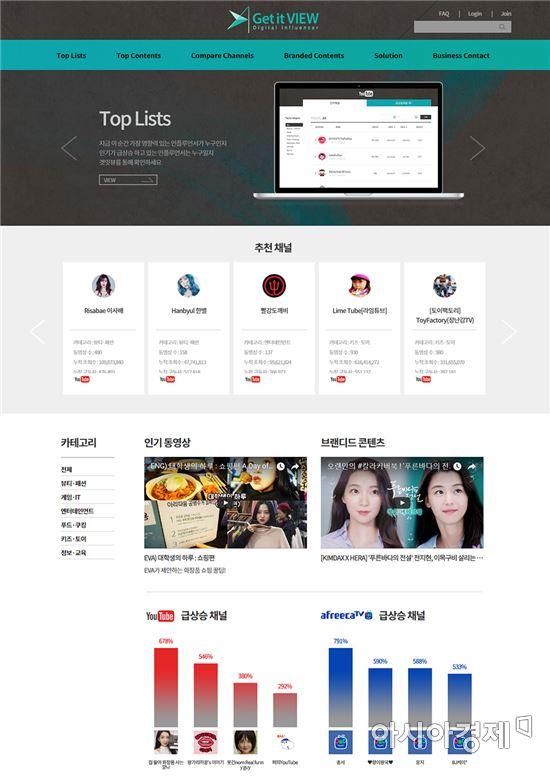 광고기획사 제일기획이 개발한 인플루언서 마케팅 솔루션 '겟잇뷰' 웹페이지 메인 화면(사진=제일기획 제공)
