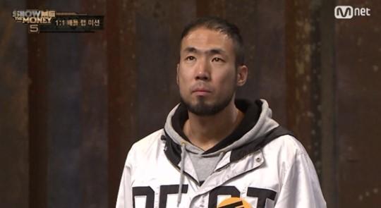 [사진=Mnet '쇼미더머니5' 방송 캡쳐]/'쇼미더머니5'에 출연한 래퍼 정상수의 모습