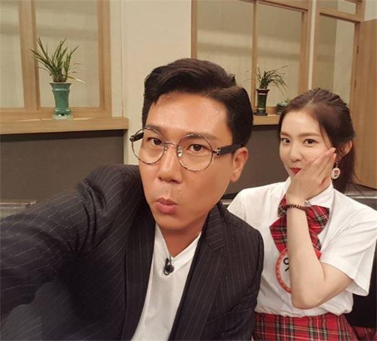 [사진제공=이상민 인스타그램] '아는형님' 이상민이 레드벨벳 아이린과 셀카를 찍었다
