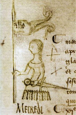 잔다르크 생전에 잔다르크를 그린 것으로 알려진 스케치(사진=위키피디아)
