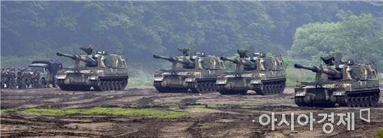 K9 자주포는 국내 포함 전 세계 1700여 대가 운용 중인 대한민국 대표 방산 수출 장비다.