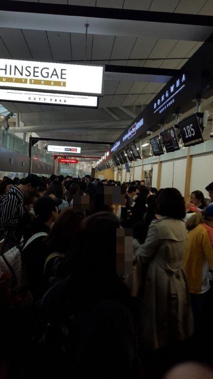 지난 황금연휴 기간 인천국제공항 인도장 모습(사진=독자제공)