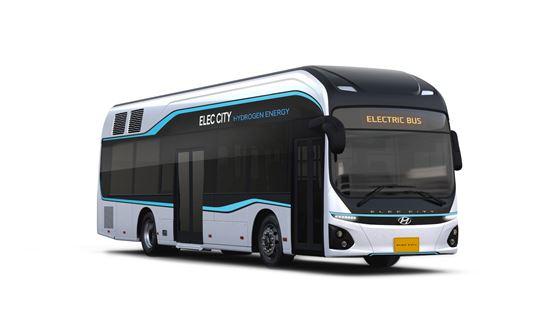 현대차가 새로 공개한 3세대 신형 수소버스