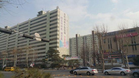서울 강남구 대치동 인근에 위치한 한 재건축 아파트 단지의 모습.